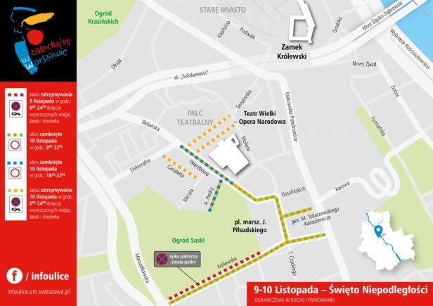 Zmiany w ruchu - 9 i 10 listopada UM Warszawa