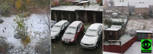 """""""My w pakiecie mamy zmianę czasu i pory roku!"""". Śnieg na Dolnym Śląsku"""