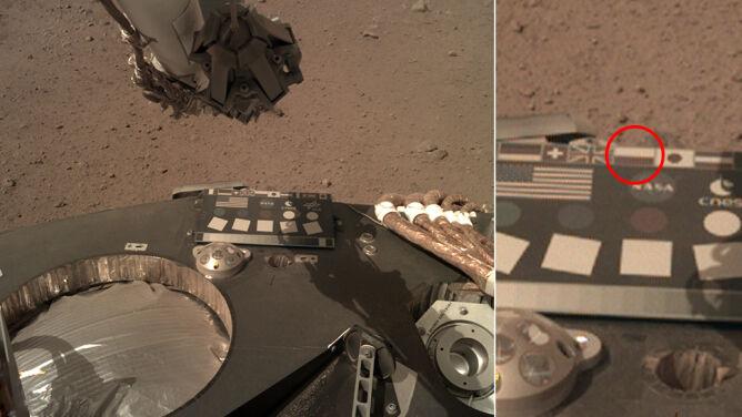 Polska flaga na Marsie (Fot. NASA)