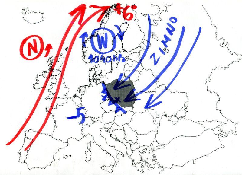 Do Polski napływa zimne powietrze