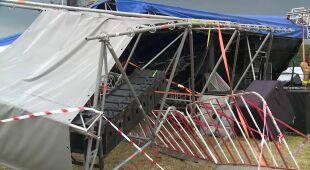 Wichura zniszczyła scenę w Ostrowie